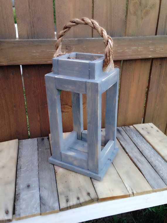 Rustic Reclaimed Wood Lantern Candle Holder. by SycamoreStVintage