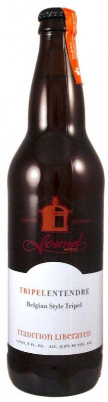 Cerveja Tripel Entendre, estilo Belgian Tripel, produzida por Sound Brewery, Estados Unidos. 9.9% ABV de álcool.