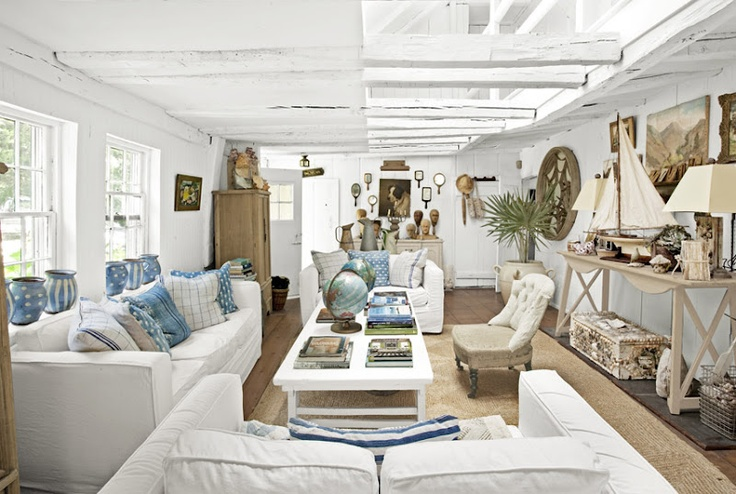 The Caledonian Mining Expedition Company: Port-of-CallDecor Ideas, Beach House, Beach Cottages, Living Room Design, Livingroom, House Interiors, Country Living, New York, Beachhouse