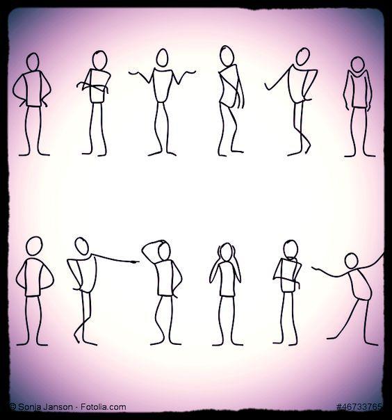 Körperhaltung, Gestik, Mimik, Augenkontakt, äußere Erscheinung und Stimme gehören zu den Körpersignalen der Körperkommunikation, die manchmal andere Botschaften übermitteln als die gesprochenen. Die verbale Sprache vermittelt Fakten, während die Körpersignale die Bedeutung übermitteln.
