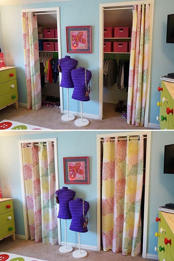 I Love The Idea Of Curtains Instead A Closet Door