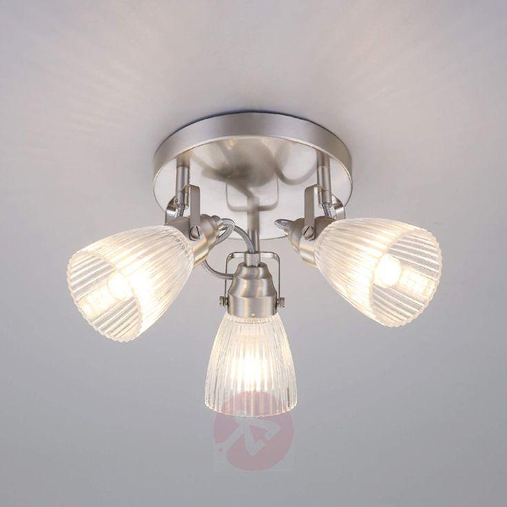 Ronde LED-badkamer-plafondlamp Kara met groefglas-9620684-07