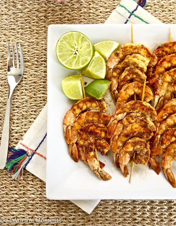 Spicy Lime Grilled Shrimp is a delicious and flavorful way to enjoy grilled shrimp. The lime juice cuts through the spiciness perfectly, making a great dish for the entire family. Serve with lime wedges and rice!