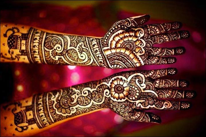 Rajasthani Bridal Mehndi Designs For Full Hands - Elephant Design