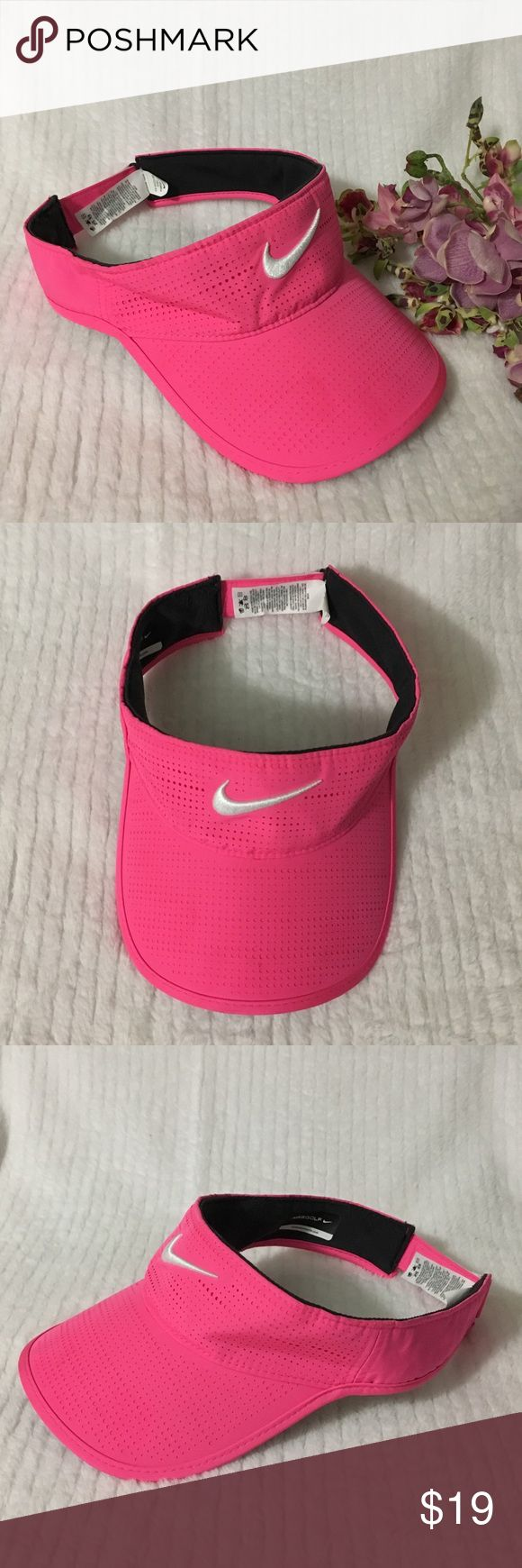Nike Golf Hot Pink Sun Visor Hat NIKE Golf Hot Pink Sun visor Hat. One Size fits most. Worn once. Inner back near the adjustable strap has minor scuff. Pls see photos. Materials: 100% Polyester  🚫Swap🚫Trade ✅Bundle & Save 🤗Reasonable offers are welcome Nike Accessories Hats