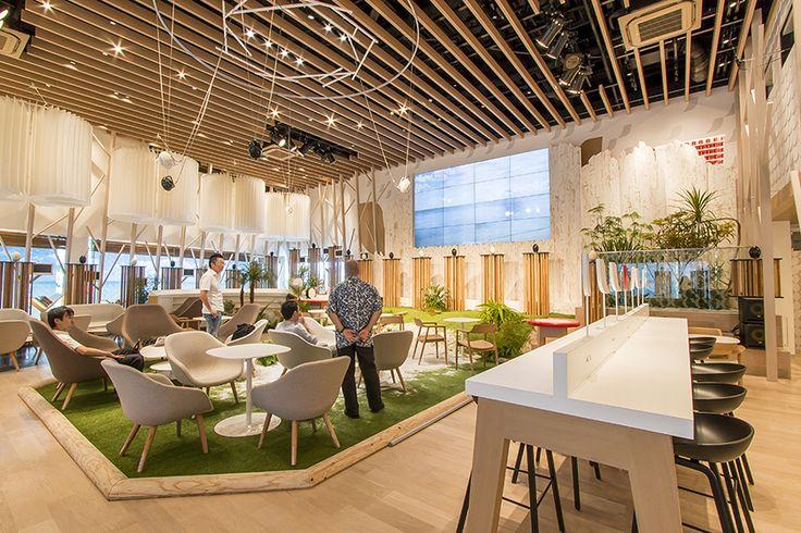 GREEN DISPLAY 株式会社グリーンディスプレイ | PLANTSCAPING | WORKS | EVENTRESTAURANT/CAFE | ネスカフェ原宿