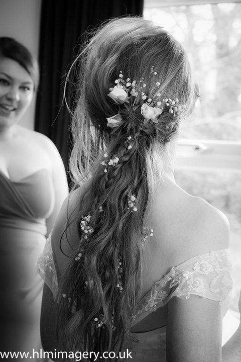 Simply beautiful bridal hair