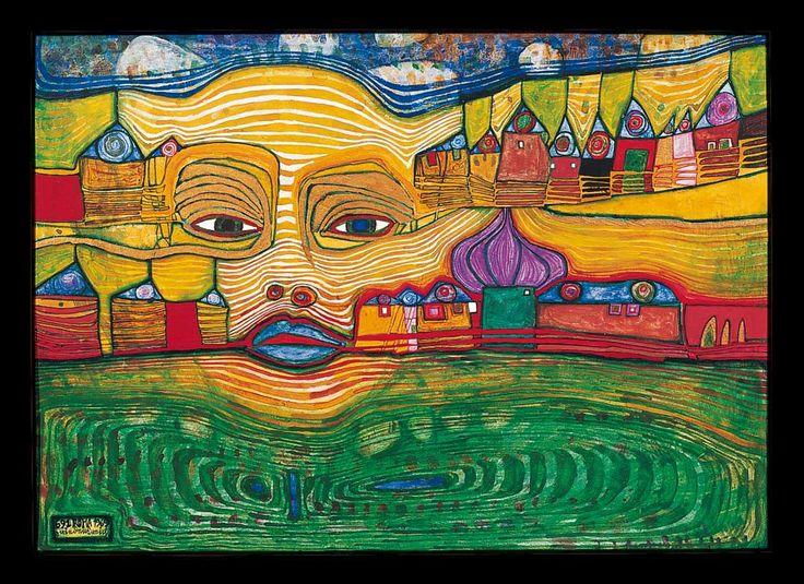 hundertwasser paintings | Hundertwasser Paintings, Hundertwasser Painting 02.jpg