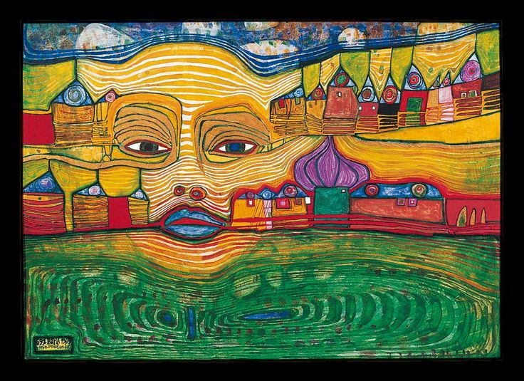 hundertwasser paintings | Hundertwasser Paintings, Hundertwasser Painting 02.jpg