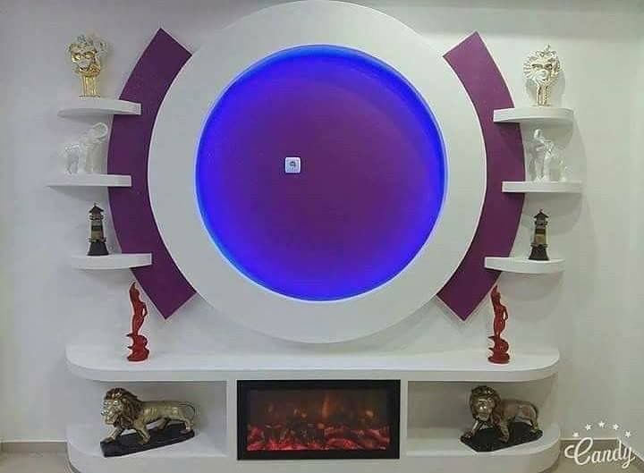 Pin By Riad On اعمال من تنفيذنا Wall Tv Unit Design Tv Wall Design Ceiling Design Bedroom