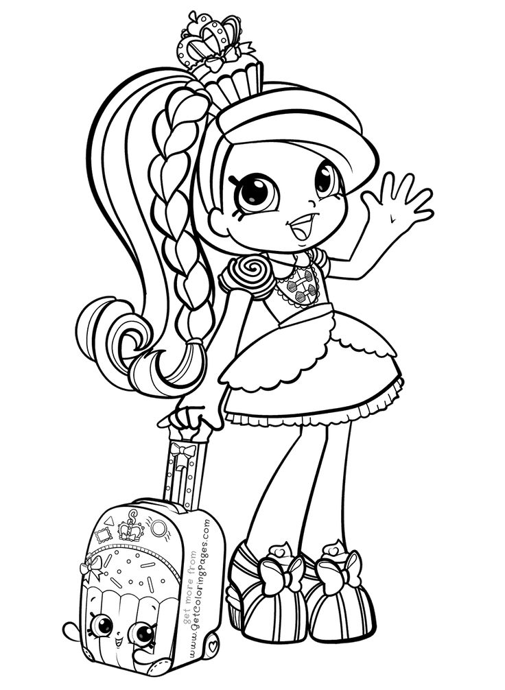 free coloring pages for girl | Shoppies Coloring Pages | Shopkins colouring pages ...