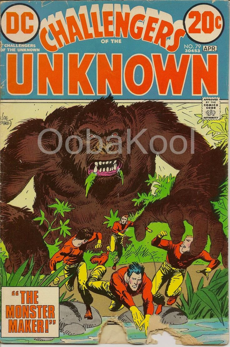 CHALLENGERS OF THE UNKNOWN / THE MONSTER MAKER / VOL 1 #79 APRIL 1973 / OobaKool Comics