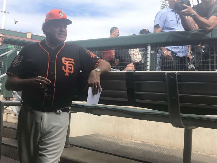 "ESPN's Berman (guest) manages Giants in loss to Dodgers - March 4, 2018.  Chris Berman managed the Giants.  One more time for effect.  Chris … Berman … managed … the … Giants.  The long-time ESPN broadcaster was at Scottsdale Stadium on Sunday as a ""guest manager,"" accompanying Bruce Bochy in the dugout during the Giants' 9-3 exhibition loss to the Dodgers."