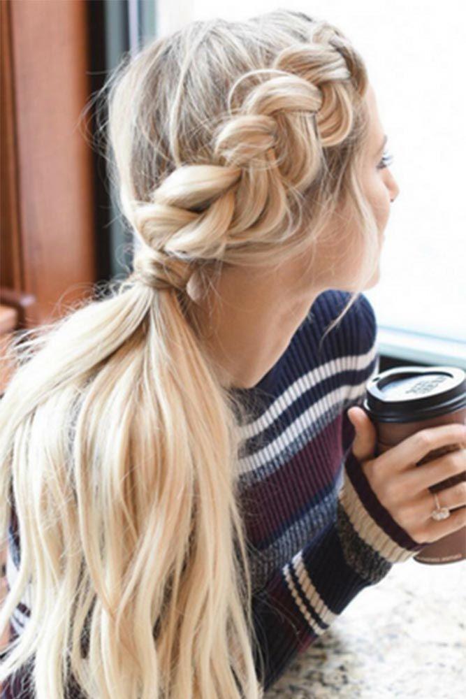 long hair ponytail ideas
