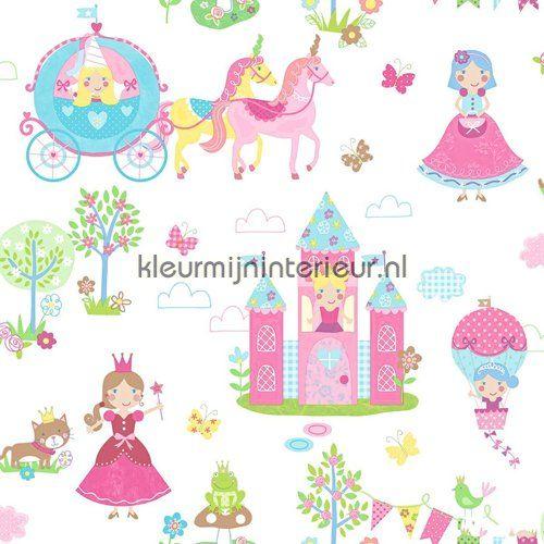 Prinsessen pret roze behang G45143 uit de collectie Tiny Tots van Noordwand online bestellen bij kleurmijninterieur
