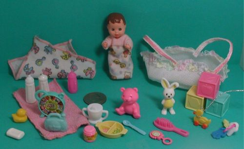 Barbie Krissy Happy Family Baby Doll  + Accessories  Lot of 25 Items