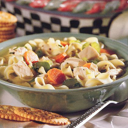 Chunky Chicken Noodle Soup - Acid Reflux Recipes for Kids - http://chefrecipesmagazine.com/chunky-chicken-noodle-soup-acid-reflux-recipes-for-kids/