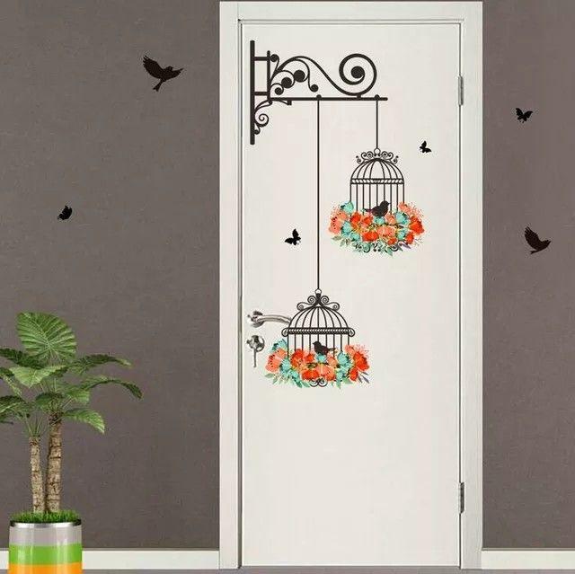 Birdcage Vinyl Wall Stickers Bedroom Living Decoration Tree Branch