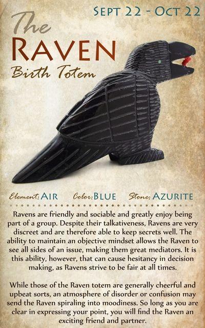 Kokopelli NH | The RAVEN Birth Totem | September 22 - October 22