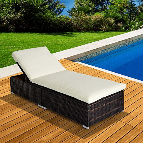 outsunny new garden furniture rattan sun recliner lounger brown - Garden Furniture Loungers