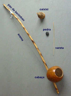 "Really cool exotic instrument from Brazil called the ""Berimbao"". Its used in Capoeira, a Brazilian martial arts."