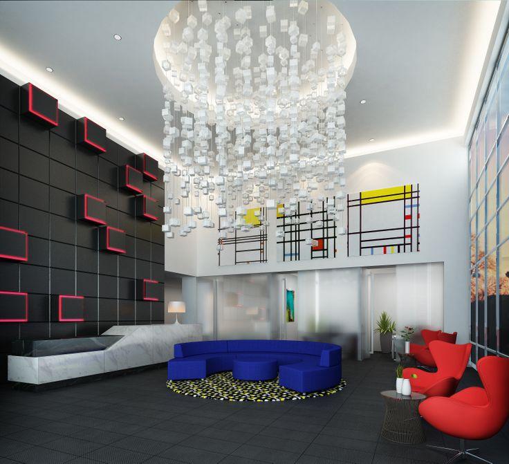 Arts lobby interior de stijl movement b2 architecture for De stijl architettura