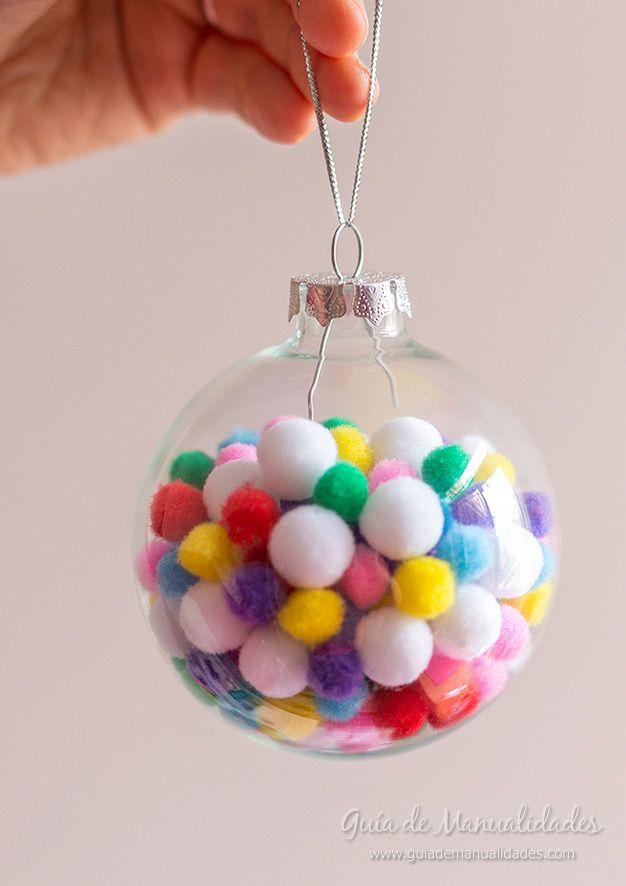 6 ideas para decorar bolas de navidad pompones bolitas - Decorar bolas de navidad ...