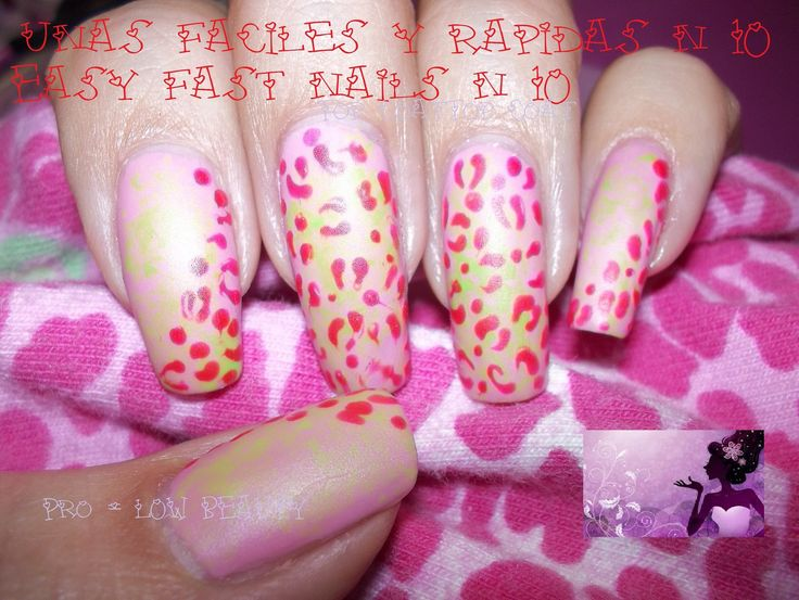 Uñas mate, animal print, matte nails