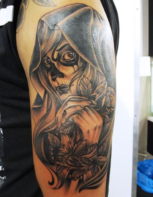 7 best images about death tattoo on pinterest the skulls for Black and grey tattoo artists near me
