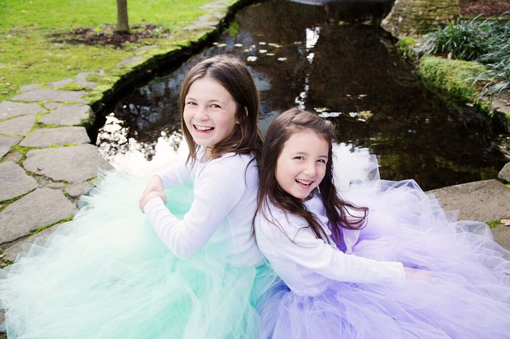 Beautiful girls in mint and lavender dream tutus by Romayse Tutus