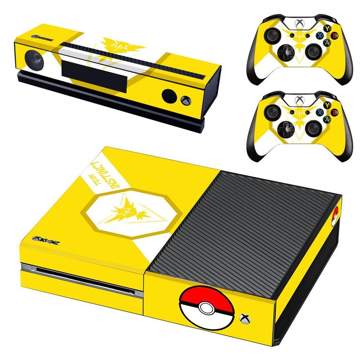 pokemon go team instinct skin decal for xbox one console and controllers
