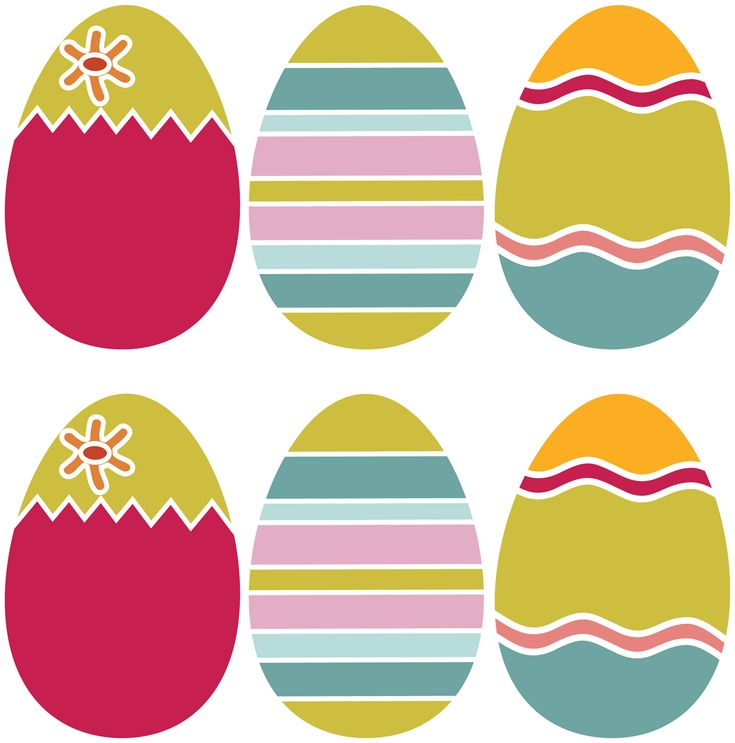 free printable easter eggs with printable spring banner dl