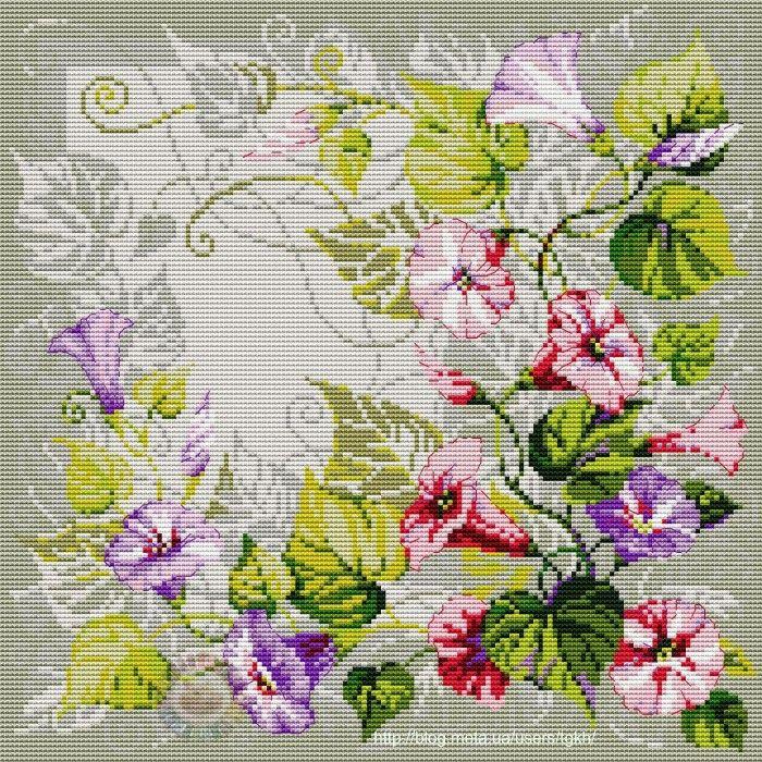Розы подушка схема вышивки