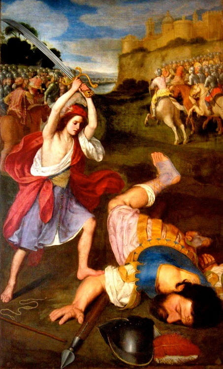 Giovanni Battista Nagli (Il Centino), David and Goliath, 17th century:
