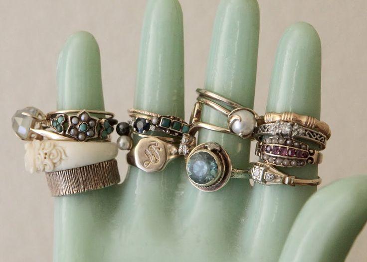 BeJEWELed Ceramic Hand Vintage Ring