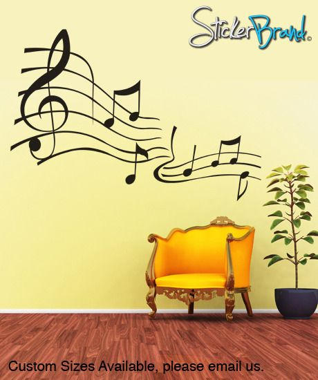 Funky Musical Notes Wall Decor Image - Wall Art Design ...