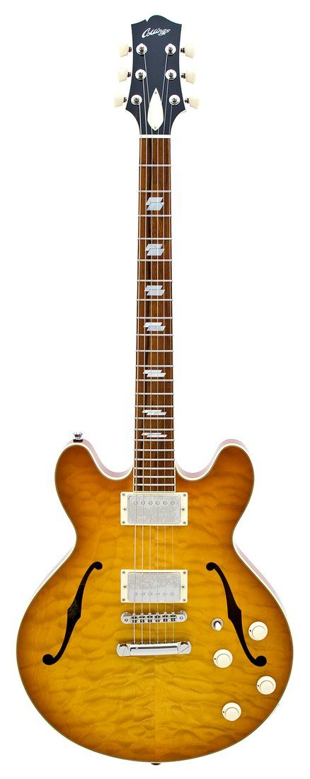 Collings 2008 I35 Deluxe Hollowbody Amber Sunburst Quilt Top Electric Guitar | Rainbow Guitars