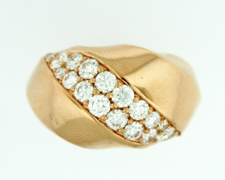 1.10ctw Hearts on Fire Atlantico Wave 18K Rose Gold Ring