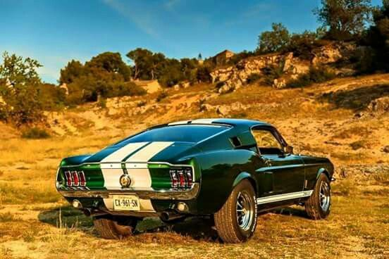 Classic ford mustang fastback