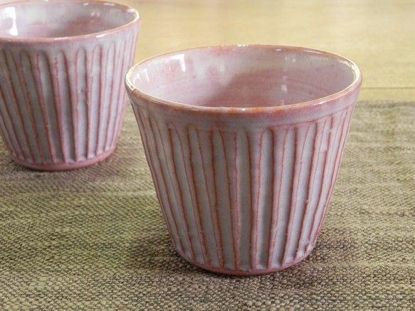 フリーカップ(鎬・紫)|グラス・カップ|土和窯(つちわがま)|ハンドメイド通販・販売のCreema