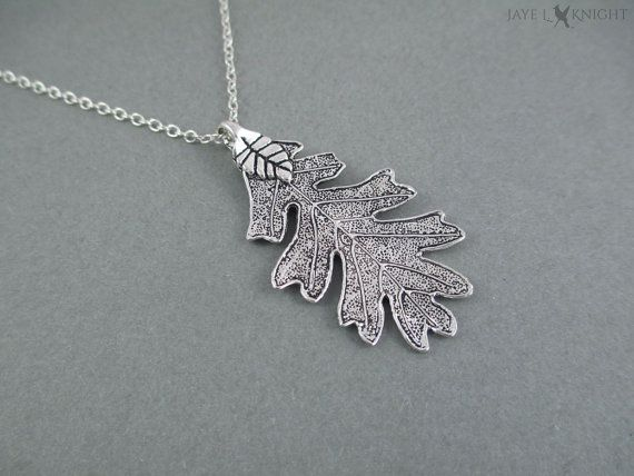 This necklace was inspired by the silver oak leaf pendants worn by the rangers in Rangers Apprentice. Its perfect for fans of the books who want to