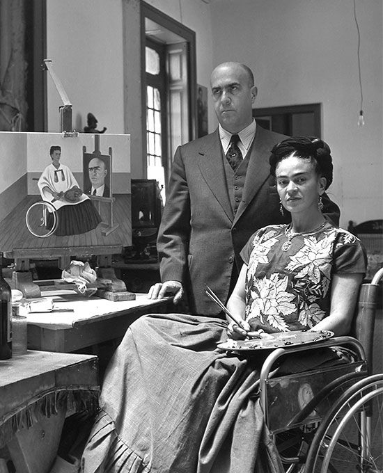 Frida Kahlo and her doctor, New Mexico, 1951.