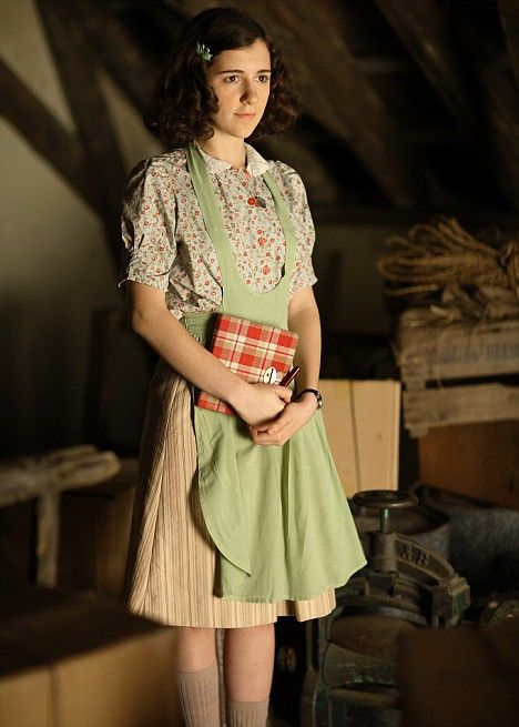 Ellie Kendrick in the BBC adaptation of the Diary of Anne Frank.