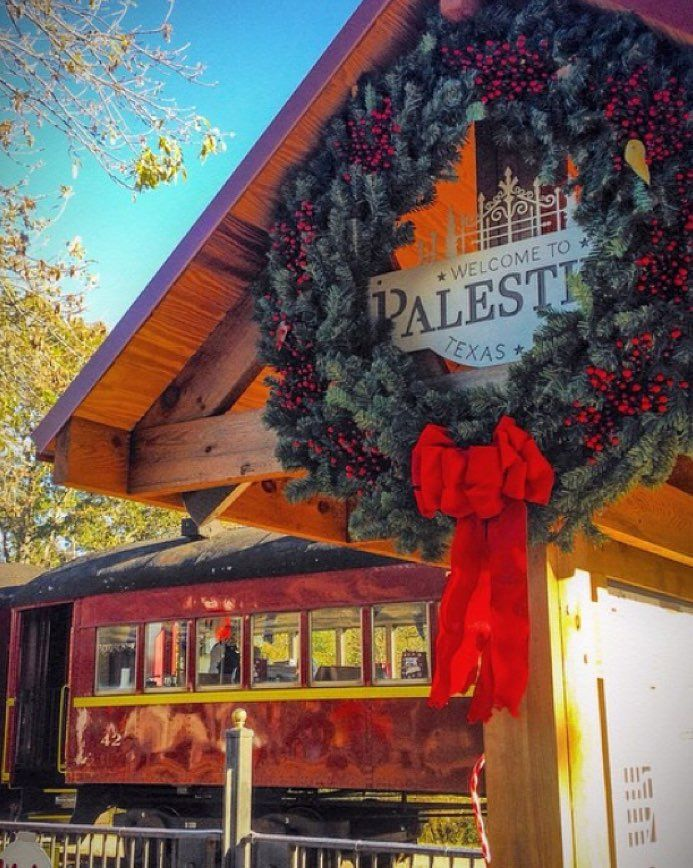 Christmas has arrived in Palestine Texas! All aboard the Polar Express!  Photo by @lloveless