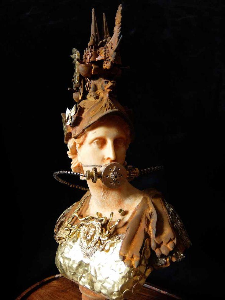 XAVIER SOMERS - MINERVA - Galerie Géraldine Banier http://www.widewalls.ch/artwork/xavier-somers/minerva/ #sculpture