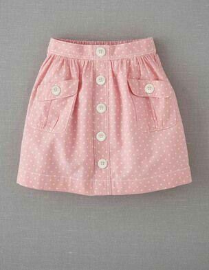 Skirt with pocketd
