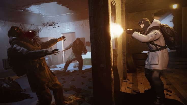 Watch the first gameplay footage from multiplayer zombie game Dead Dozen It's like a nightmare Rainbow Six Siege.  Theannouncement of Dead Dozen—a multiplayer ghouls vs survivors game from the creators ofThe Wild Eight—created a bit of a buzz, but would-be fans were after some gameplay footage before passing judgment. Developer Fntastic has now obliged, relea...