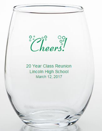 Personalized Class Reunion Favors - 15 ounce Glasses