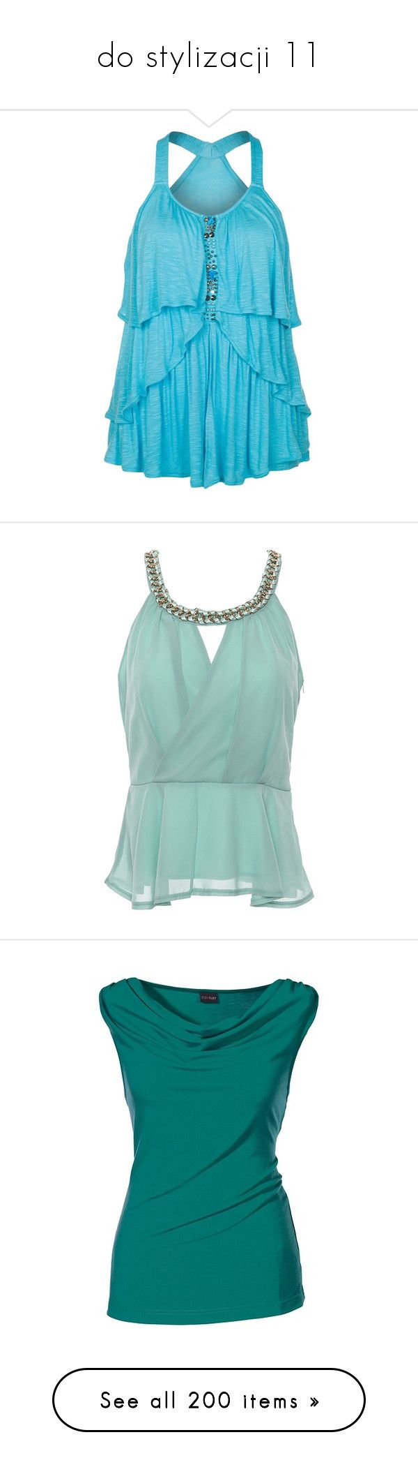 """do stylizacji 11"" by ania18018970 ❤ liked on Polyvore featuring tops, shirts, blusas, turquoise, vero moda tops, blue top, turquoise shirt, vero moda, vero moda shirt and tank tops"