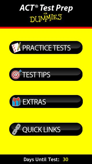 ACT Test Prep for Dummies | This app features more than 800 practice questions covering critical English, Reading, Science, and Math skills. | Study | Educate | Succeed